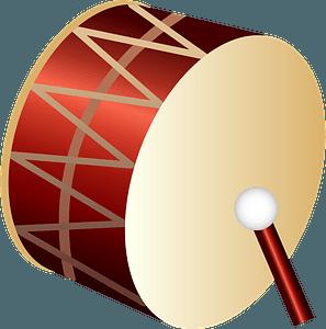 Bass drum musical instrument clipart