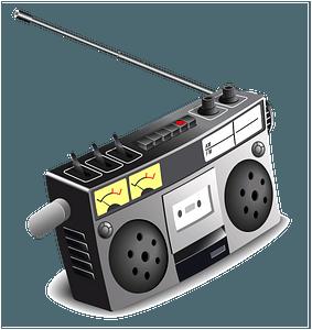 Boombox music clipart