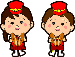 Marching band cymbal players clipart