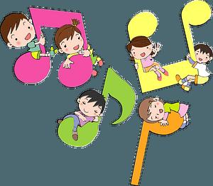 Musical notes children clipart