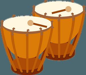 Timpani musical instrument clipart