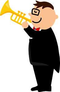 Trumpet player clipart