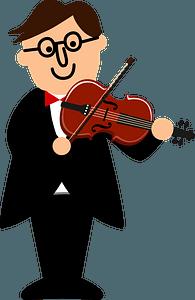 Violin player clipart