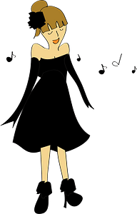 Woman s singing clipart