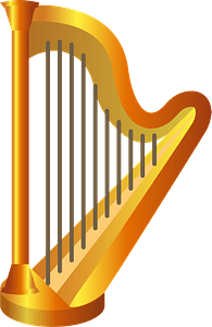 Harp musical instrument clipart