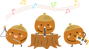 Acorn music band clipart