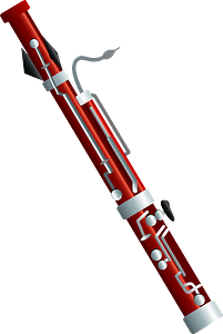 Bassoon musical instrument clipart