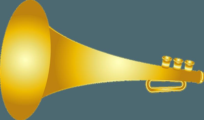 Bugle musical instrument clipart