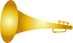 Bugle musical instrument clipart