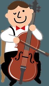 Cello player clipart