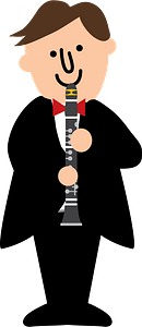 Clarinet player clipart