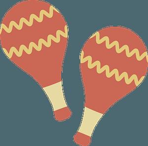 Maracas musical instrument clipart