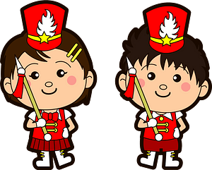 Marching band drum major clipart