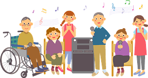 Retirement home karaoke clipart