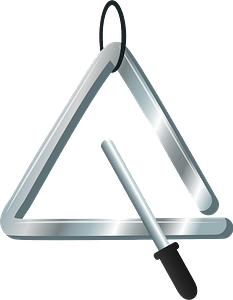 Triangle musical instrument clipart