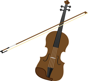 Violin and Bow clipart