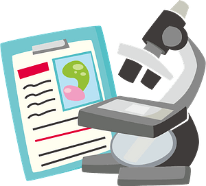 Microscope science clipart
