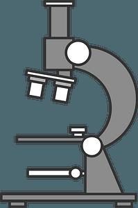 Microscope - Grayscale clipart