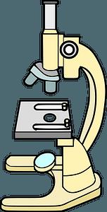 Yellow Microscope clipart