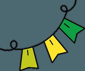 Flag garland clipart