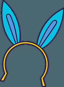 Bunny ears headband clipart