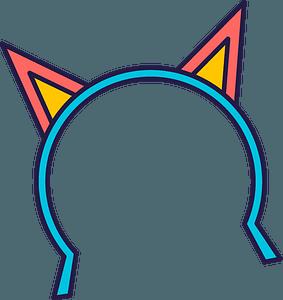 Cat ears headband clipart