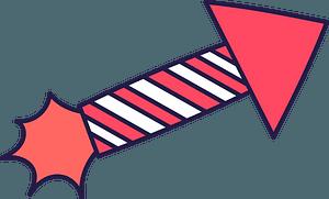 Firework rocket clipart