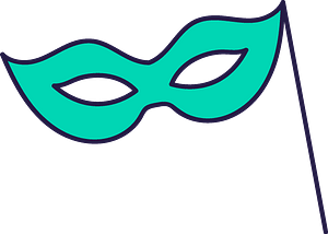 Green mask clipart