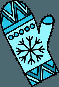 Blue mitten clipart