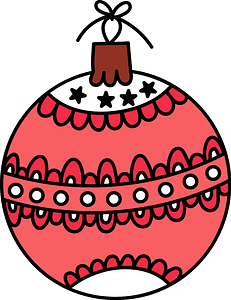 Christmas ball clipart