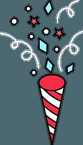 Christmas firework clipart
