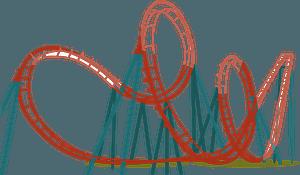 Roller coaster clipart