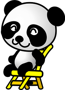 Panda on a chair clipart