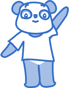 Happy panda clipart