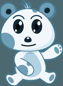 Söpö panda clipart