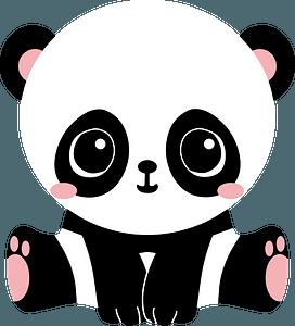 Adorable panda clipart