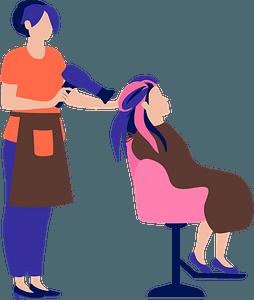 Hair stylist clipart