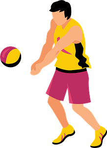 Volleyball player clipart