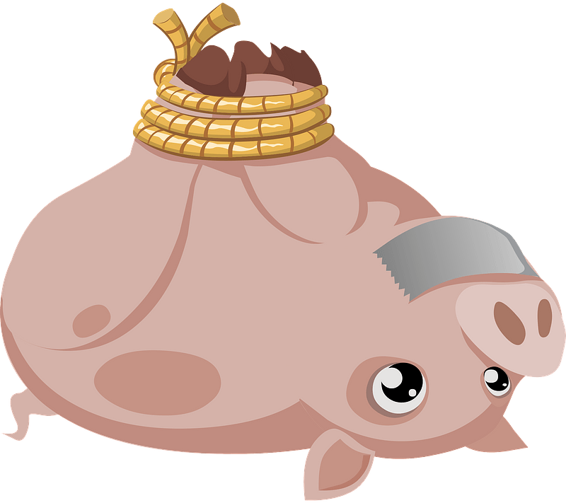 Pig With Feet Tied Together And Tape On Its Mouth Clipart Free Download Transparent Png Creazilla
