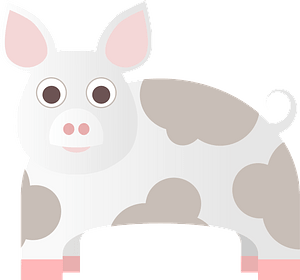 Spotted pig clipart