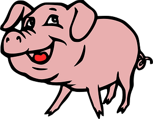 Smiling pig clipart