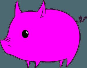 Pink pig clipart