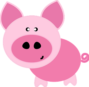Cartoon pig clipart