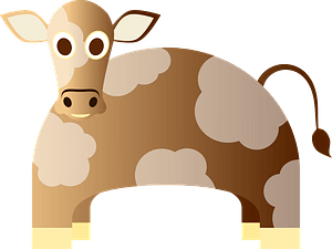 Spotted cow clipart