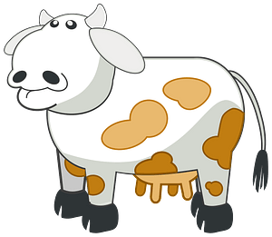 White spotted cow clipart