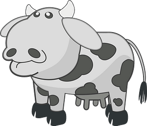 Gray spotted cow clipart
