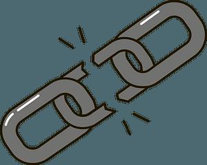 Broken chain clipart