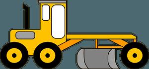 Road grader clipart