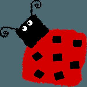 Cartoon ladybug clipart