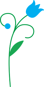 Blue flower clipart
